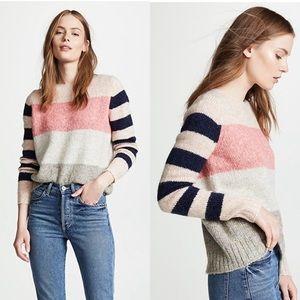 NWT La Vie Rebecca Taylor Textured Striped Sweater